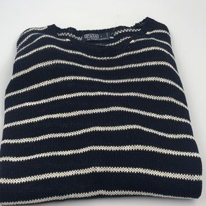 Polo by Ralph Lauren Blue & White Sweater Size XL